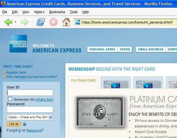 american express online
